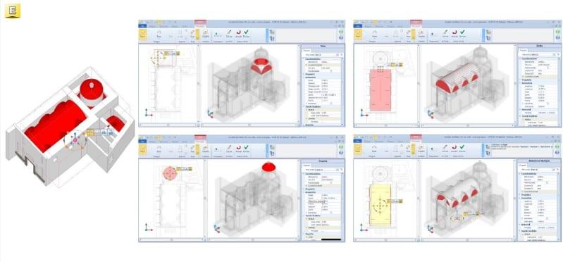 I vantaggi del BIM nella conservazione di un edificio storico: modellazione volte con Edificius