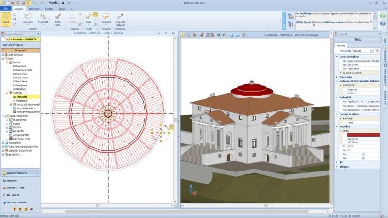 HBIM | Come modellare il tetto con Edificius