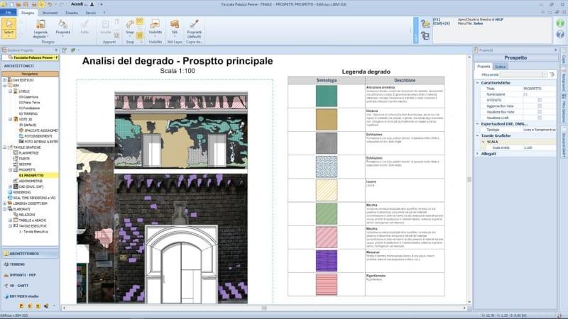 Riqualificazione edifici storici - Analisi del degrado di palazzo Penne con Edificius