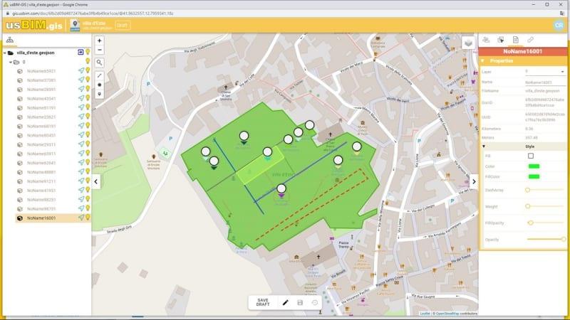 Creazione di mappe GIS con usBIM