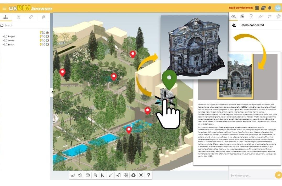 Il BIM per la gestione di un parco storico | Un caso pratico con usBIM