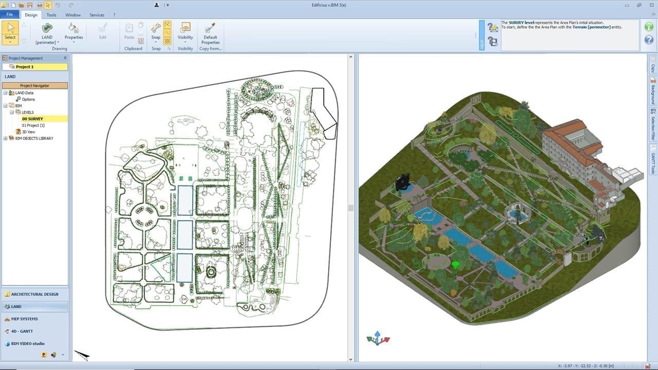 La modellazione di un parco storico con Edificius