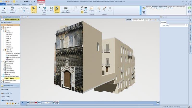 Modellazione HBIM con Edificius - Riqualificazione edifici storici