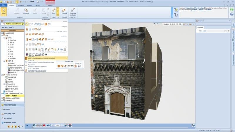 Riqualificazione edifici storici - ambiente HBIM di Edificius