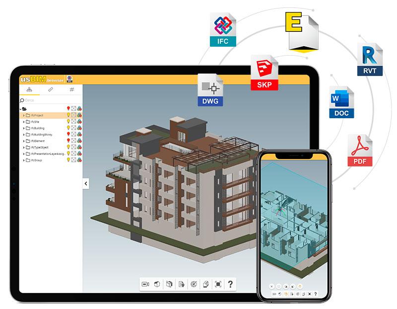 usBIM.browser - app gratuite per la gestione dei progetti di costruzione