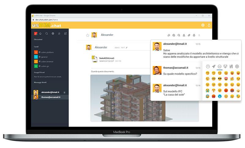 usBIM.chat app gratuite per la gestione dei progetti di costruzione