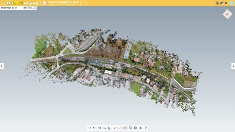 Visualizzazione nuvola di punti con app online - usBIM.pointcloud