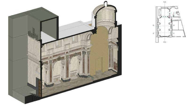 Modello HBIM della chiesa di San Pietro in Vinculis realizzato con Edificius