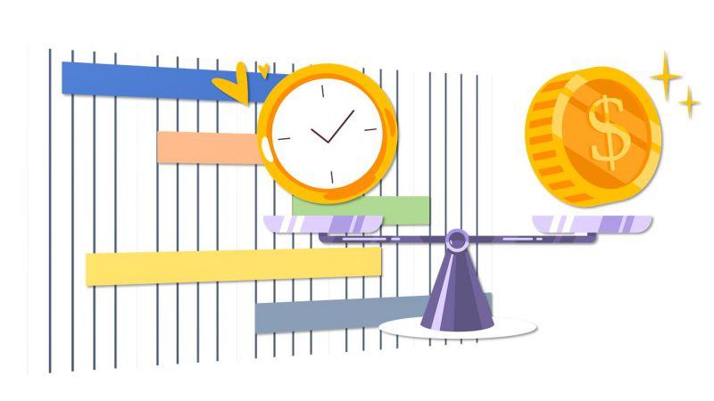 Immagine che raffigura la relazione tra tempo, costi e cronoprogramma