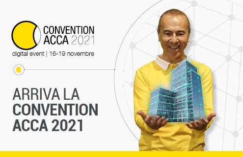 guido cianciulli con modello digitale presenta la convention acca