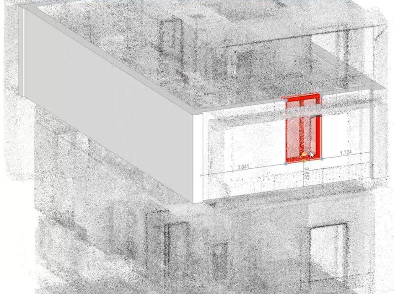 scan to bim - nuvola di punti modello architettonico