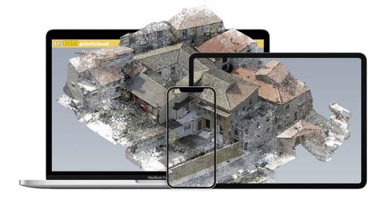 Visualizzi nuvole di punti anche dallo smartphone con usBIM.pointcloud
