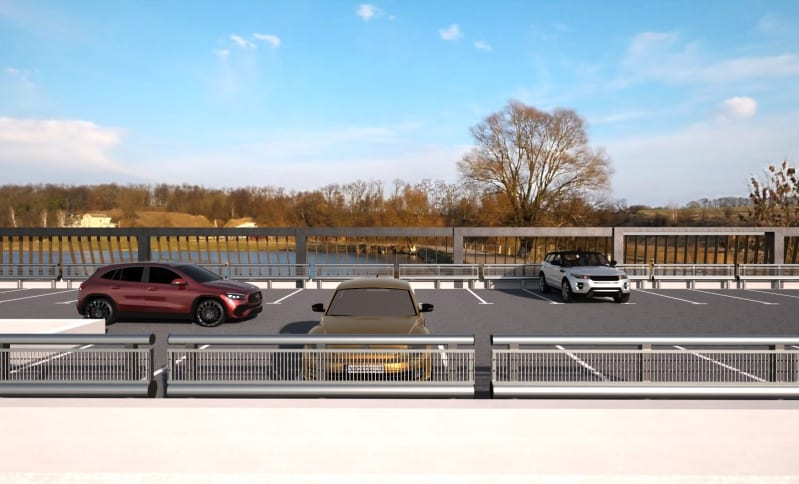 Render progetto parcheggio realizzato con Edificius